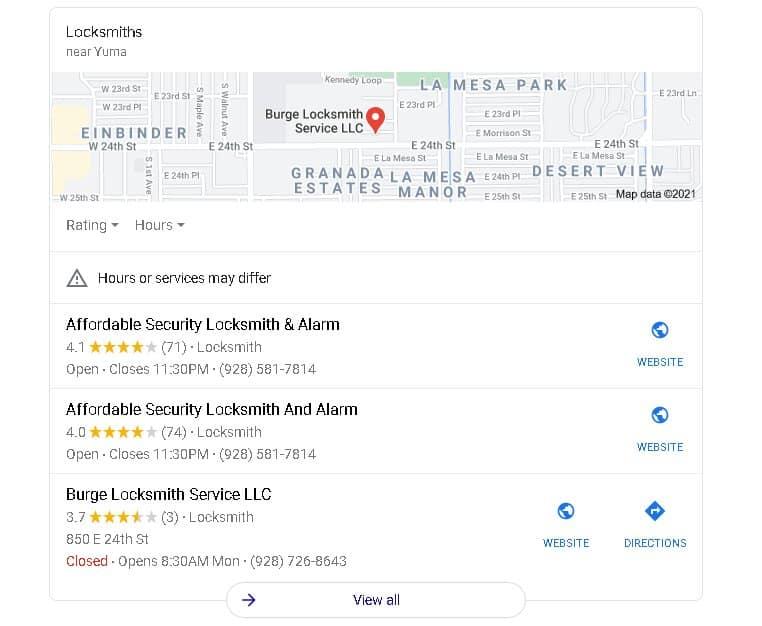 Burge Locksmith Service Vs Affordable Security Locksmith Yuma Az